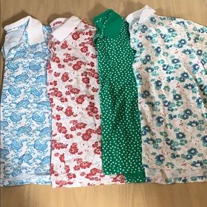 Bundle of 4 collared tshirts